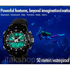 Мужские наручные часы Skmei Shark Black 1016, фото 2