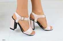 Женские кожаные босоножки на удобном каблуке