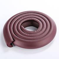 Защита на острые края мебели, лента защитная для торцов и углов мебели. Темно-коричневая.