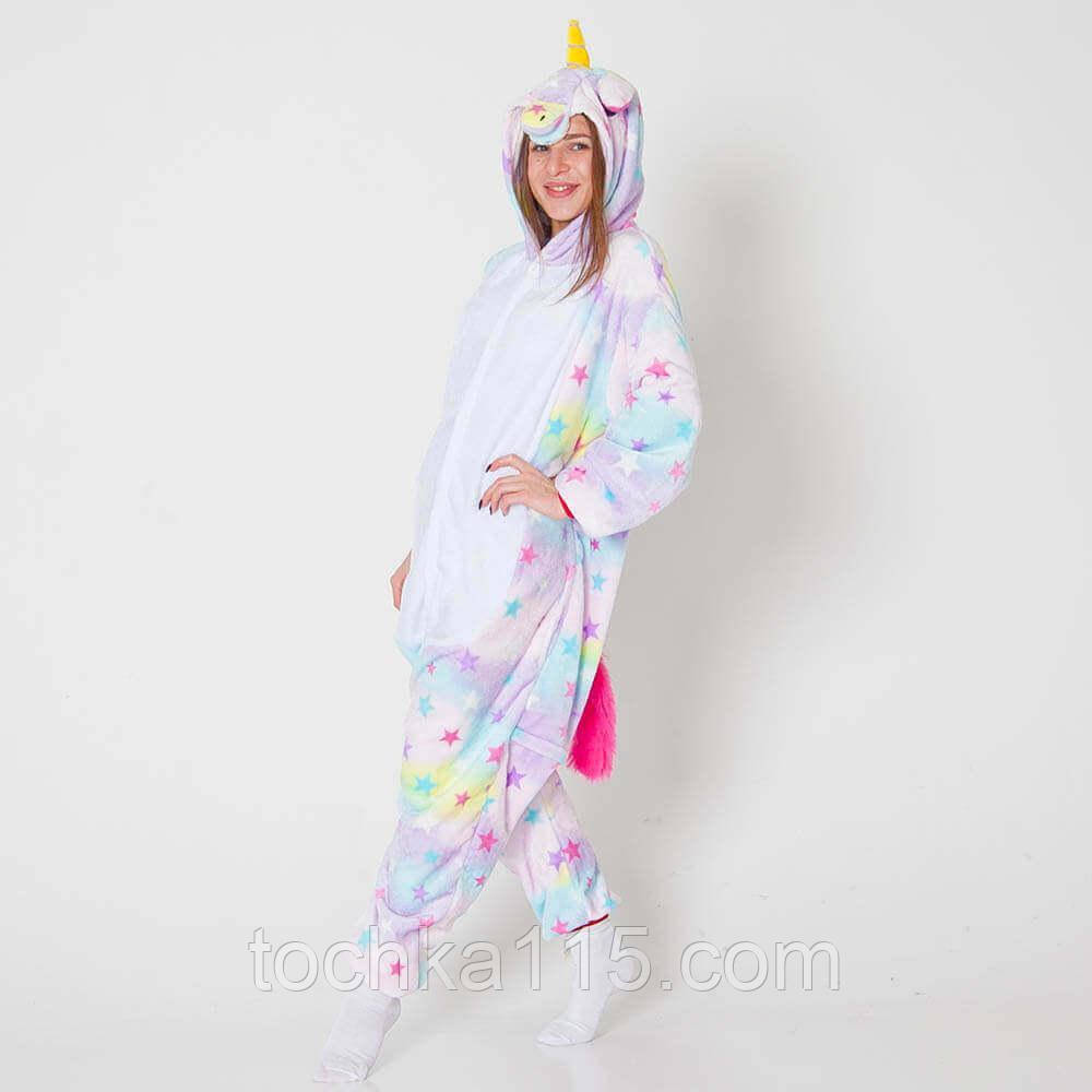 Пижама кигуруми с единорогом звездный, молодежная пижама