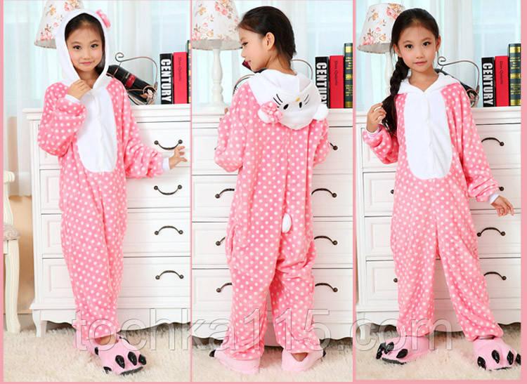 Пижама кигуруми Детские Hello Kitty розовый