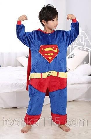 Пижама кигуруми Детские супермен синий