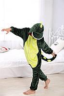 Пижама кигуруми Детские зеленый дракон