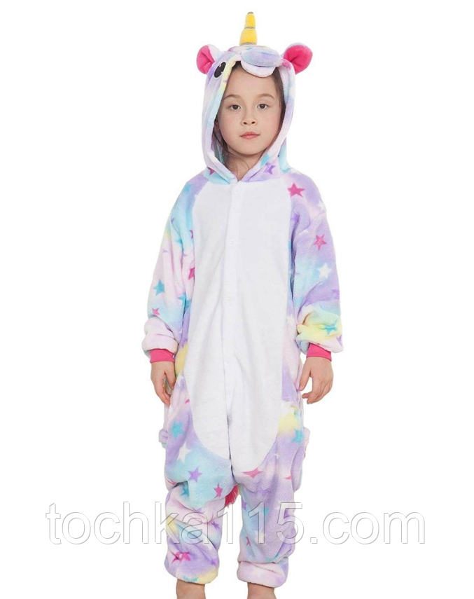 Пижама кигуруми Детские единорог звездный