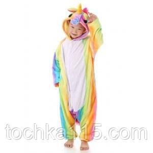 Пижама кигуруми Детские единорог радужный