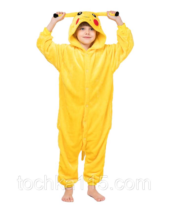 Пижама кигуруми Детские пикачу желтый