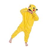 Пижама кигуруми Детские пикачу желтый, фото 3