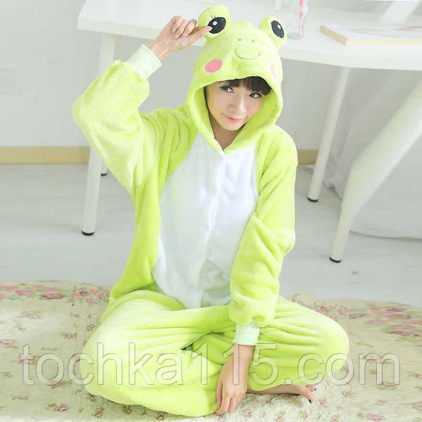 Пижама кигуруми лягушка, пижама для настроения лягушонок