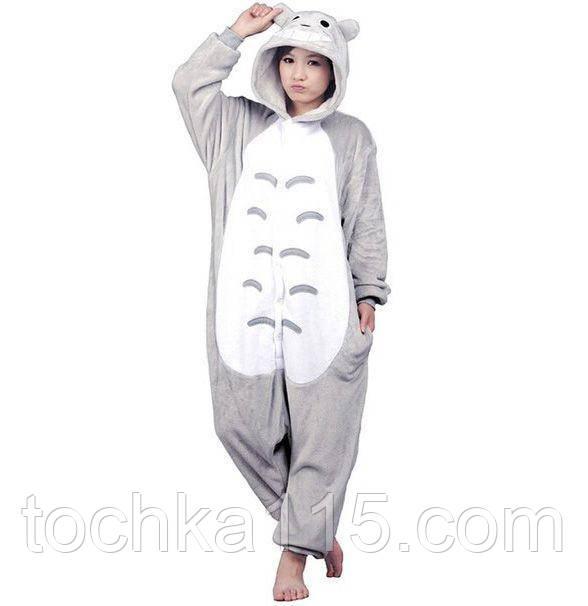 Пижама кигуруми тоторо, стильная пижама для взрослых M, L, XL