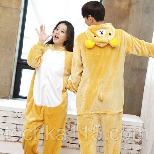 Пижама кигуруми мишка, стильная пижама медвежонок