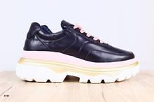 Женские кожаные кроссовки (в стиле баленсиага)