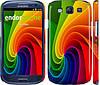 """Чехол на Samsung Galaxy S3 i9300 Радужный вихрь """"747c-11"""""""