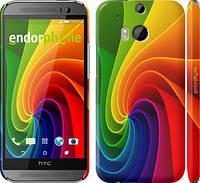 "Чехол на HTC One M8 Радужный вихрь ""747c-30"""