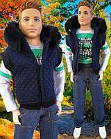 Одежда для Кена - жилет с капюшоном, фото 1