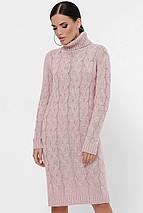 Женское вязаное платье-гольф косой (Britney fup), фото 2