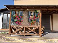 Для кафе защита от дождя и снега с фото картинкой для беседок, веранд, террас, балконов и т.д.