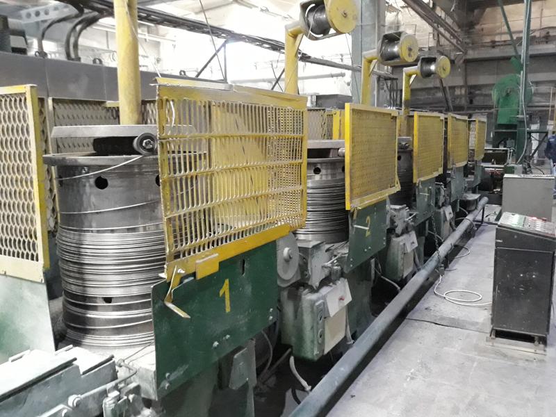 Автоматизация волочильного стана (протяжного стана) для производства проволоки.