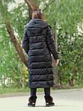 Женский длинный пуховик одеяло VS 87 с воротником подушкой, цвет чёрный, фото 3