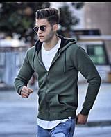 Теплая мужская кофта трикотаж на флисе S-XL Турция