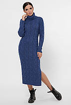 Женское длинное вязаное платье под горло (Cameron fup), фото 2