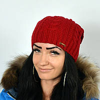 "Женская шапка NORD ""Imbir""  Красный"