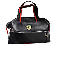 Спортивная сумка Puma Ferari с молнией черная реплика, фото 1