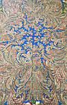 Чародейка Зима 1749-1, павлопосадский платок шерстяной (двуниточная шерсть) с шелковой вязаной бахромой, фото 8