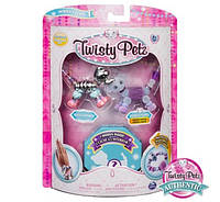 Twisty Petz 3шт Набор браслеты, ожерелье слон, щенок и питомец-сюрприз Razzle Elephant, Pupsicle Puppy