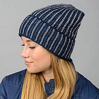 """Удлиненная женская шапка """"Stella"""" с отворотом, фото 1"""