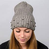 """Удлиненная женская шапка """"Monaco"""" с отворотом, фото 1"""