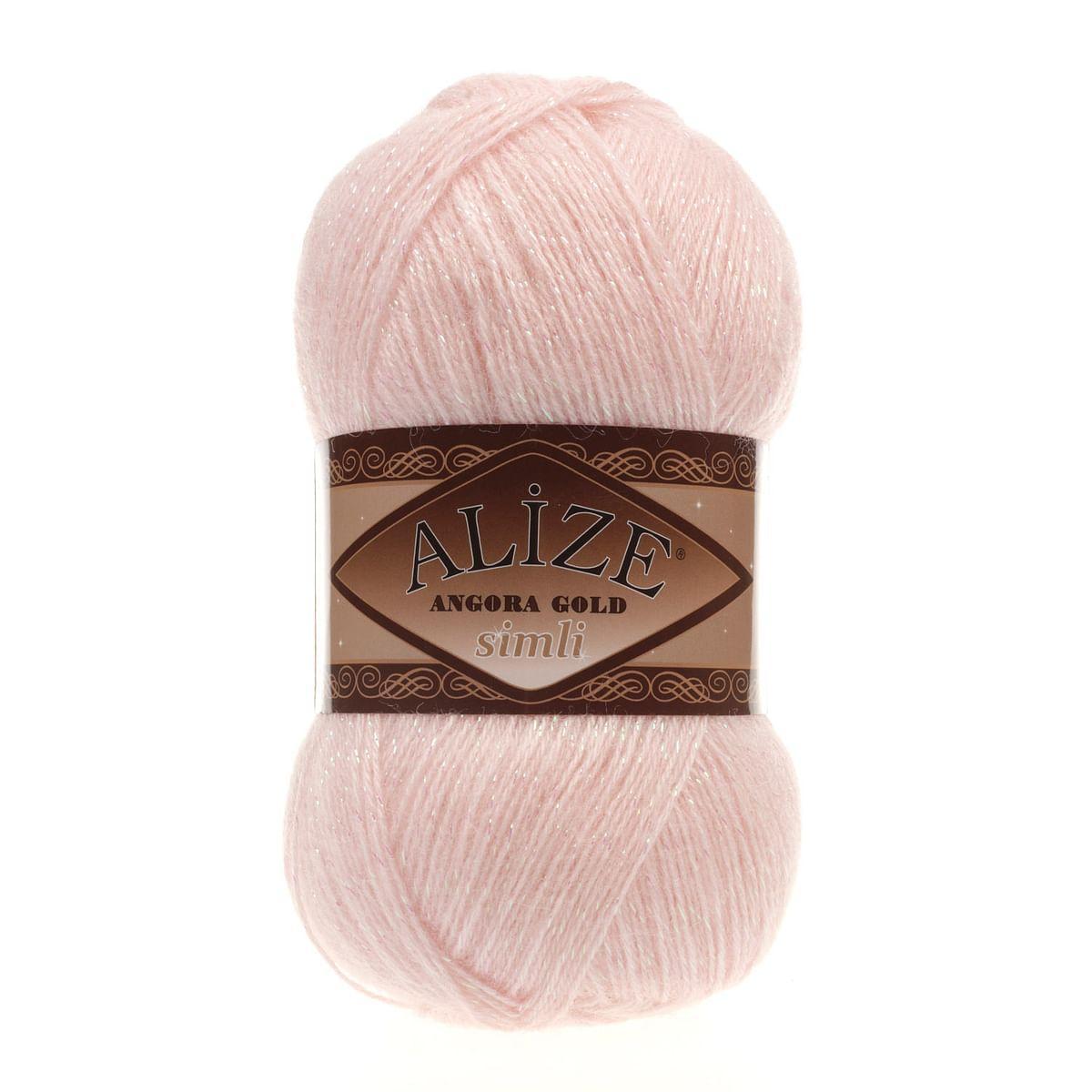 ANGORA GOLD SIMLI 271 жемчужно-розовый - 20% шерсть, 5% металлик, 75% акрил