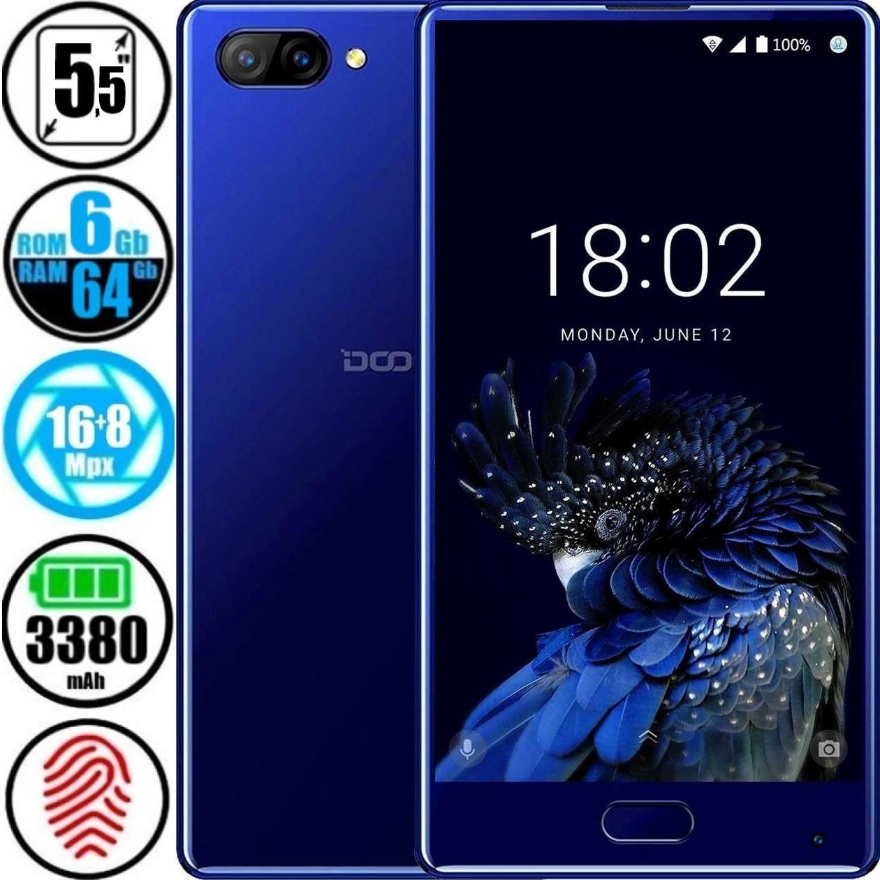 Смартфон Doogee Mix 6/64GB Blue + Чехол в подарок