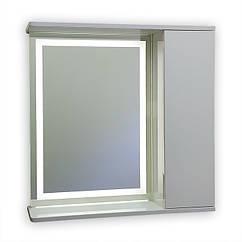 Зеркальный шкаф с LED подсветкой ШК703 (700х700) дверь справа
