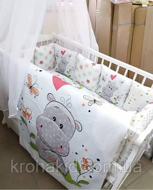 """Набор постельного белья в детскую кроватку/ манеж """"Мишки"""" - Бортики / Защита в кроватку, фото 2"""