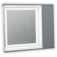 Зеркальный шкаф с LED подсветкой ШК703 (900х700х150) дверь справа