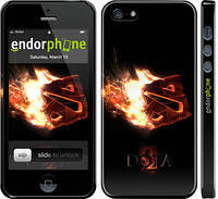 "Чехол на iPhone 5s Dota 2 on black ""626c-21"""