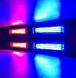 КОМПЛЕКТ. Светодиодный COB стробоскоп (4 лампы + 9 режимов работы + пульт ДУ) КРАСНЫЙ + СИНИЙ, фото 2