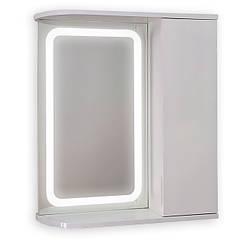 Зеркальный шкаф с LED подсветкой ШК604 (600х700х150) дверь справа
