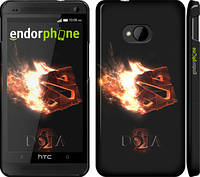 "Чехол на HTC One M7 Dota 2 on black ""626c-36"""