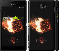 "Чехол на Sony Xperia M2 D2305 Dota 2 on black ""626c-60"""