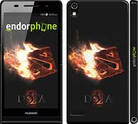 "Чехол на Huawei Ascend P6 Dota 2 on black ""626c-39"""