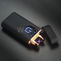 Оригинал! Сенсорная плазменная электроимпульсная USB-зажигалка с двойной дугой + Подарочная коробка