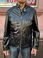 Куртка мужская кожаная натуральная короткая демисезонная