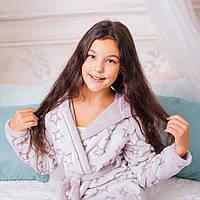 Халат подростковый Eirena Nadine (64-563) рост 158-164 пепельно розовый