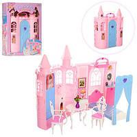 Мебель 26086 (6шт) замок-спальня(чемодан), кровать,шкаф,стол,аксессуары,в кор-ке,31-42-11,5см