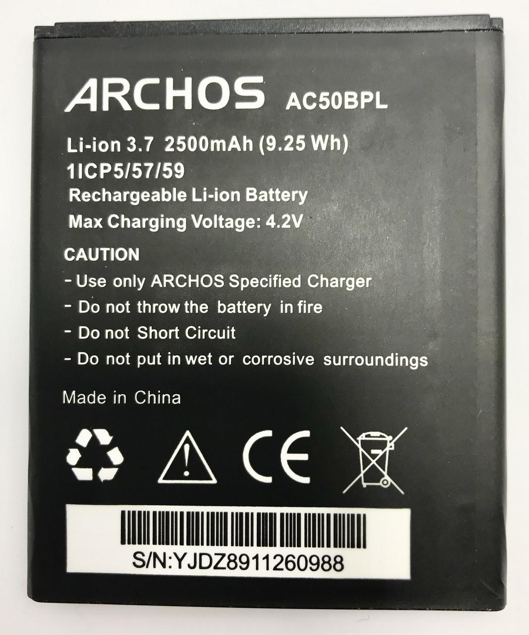 Archos 50b Platinum  AC50BPL Аккумулятор Батарея