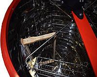 Медогонка 4-х рамочная радиально-хордиальная полностью н/ж на подставке с крышкой