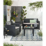 Набір садових меблів Alabama Set Graphite ( графіт ) з штучного ротанга ( Allibert by Keter ), фото 10