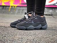 Кроссовки Adidas Yeezy Boost 500 женские, черные, в стиле Адидас изи.буст. Замша 100% прошиты код Z-1654