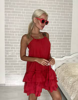 Женское легкое платье-сарафан на бретелях, фото 1